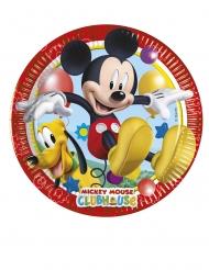Mickey Maus™-Teller aus Pappkarton 8 Stück bunt 20cm