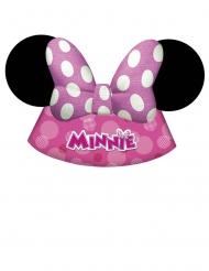 Minnie Maus™-Geburtstags-Hüte für Kinder 6 Stück pink-weiss-schwarz