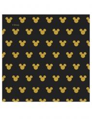 Mickey Maus™-Servietten für Geburtstage 20 Stück schwarz-gold 33x33cm