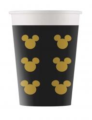 Mickey Maus™-Pappbecher mit Köpfen 8 Stück schwarz-gold 160ml