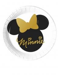 Minnie Maus™-Pappteller Kultmaus 8 Stück schwarz-weiss-gold 20 cm