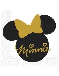 Minnie Maus™-Servietten Minnie Gold™ 20 Stück schwarz-gold 33x33cm