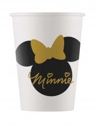Minnie Maus™-Pappbecher Kindergeburtstag 8 Stück weiss-schwarz-gold 160ml