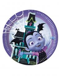 Disney™ Vampirina-Pappteller für Kindergeburtstage 8 Stück bunt 23 cm