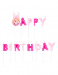 Disney™-Prinzessinnen Kerzen für Geburtstage 13 Stück rosa