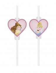 Disney™-Prinzessinnen Trinkhalme Kindergeburtstag 4 Stück bunt