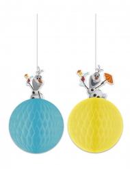 Lustige Olaf™-Hängedekoration Frozen™ 2 Stück blau-gelb