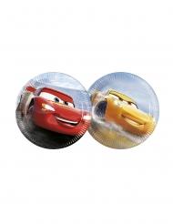 Cars3™-Pappteller klein für Kindergeburtstage 8 Stück bunt 20cm