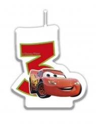Cars3™-Kerze für Kinder 3 - 7 Geburtstag bunt