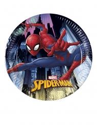 Spider Man™-Pappteller Tischzubehör für Kinder 8 Stück bunt 20cm