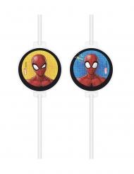 Spider-Man™-Trinkhalme für Superhelden 4 Stück bunt