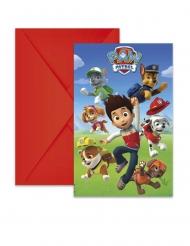 Paw Patrol™-Einladungskarten & Briefumschläge 12-teilig bunt 14x9cm