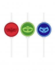 PJ Masks™-Strohhalme für Kindergeburtstage 4 Stück bunt