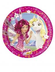 Mia & Me™-Pappteller für Kindergeburtstage 8 Stück bunt 20cm