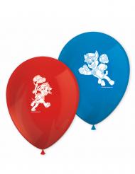 Paw Patrol™-Party-Luftballons Kindergeburtstag 8 Stück rot-blau