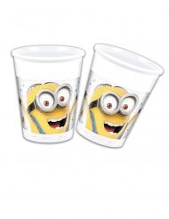 Minions™-Trinkbecher 8 Stück weiss-gelb 200ml