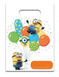 Minions™-Geschenktüte mit Luftballons 6 Stück 28,5x17cm bunt