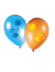 Offizielle Minions™-Luftballons 8 Stück blau-orange