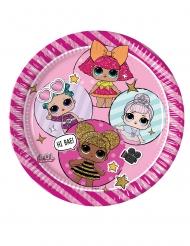LOL Surprise™-Teller 8 Stück rosa-pink 23cm