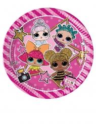 LOL Surprise™-Teller 8 Stück pink-rosa 20cm