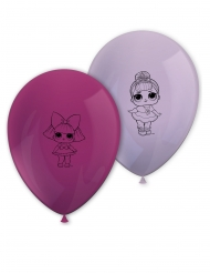 L.O.L-Surprise™-Luftballons Raumdekoration für Geburtstage 8 Stück rosa