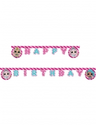 LOL Surprise™-Girlande Happy Birthday Raumdekoration bunt 2m