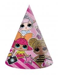 LOL Surprise™-Partyhüte Kindergeburtstag 6 Stück bunt