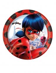 Ladybug™-Pappteller Miraculous™ Tischzubehör 8 Stück bunt 23cm