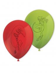 Ladybug™ und Cat Noir-Latexballons für Kindergeburtstage 8 Stück grün-rot