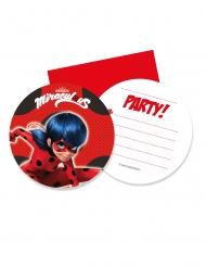 Ladybug™-Einladungskarten und Briefumschläge Kindergeburtstag 12-teilig bunt