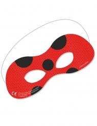 Ladybug™-Augenmaske Miraculous™-Pappmasken 6 Stück rot-schwarz