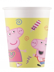 8 Peppa Wutz™ Pappbecher 200 ml