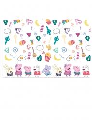 Peppa Wutz™-Tischdecke für Kinder Zubehör für Geburtstage bunt 120 x 180 cm