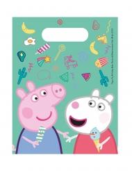 Süße Peppa Wutz™-Geschenktüten für Kinder 6 Stück bunt 17 x 23cm
