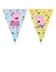 Peppa Wutz™-Wimpelgirlande für Kindergeburtstage Party-Zubehör bunt 2,3 m