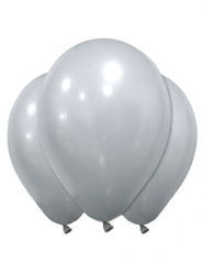 12 Luftballons Silber 28 cm
