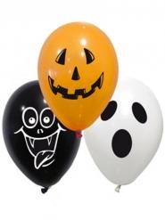 Halloween-Luftballon-Set mit Halloween-Motiven 10-teilig bunt 28cm