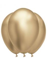 Latex-Luftballons groß elegante Party-Dekoration 6 Stück gold 31-39 cm