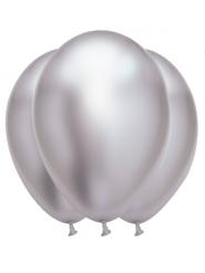 Luftballons Raumdekoration für festliche Anlässe 6 Stück silber 31 x 39 cm