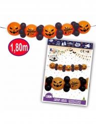 Girlande mit Luftballons und Kürbis-Motiv  Halloween orange-schwarz