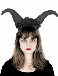 Dämonen-Haarreif mit Hörnern Halloween-Zubehör schwarz
