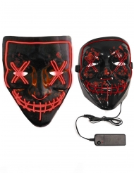 LED Purge-Maske für Erwachsene leuchtend schwarz-rot