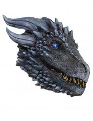 Game of Thrones™-Eisdrachen-Maske Kostüm-Zubehör blau-silber
