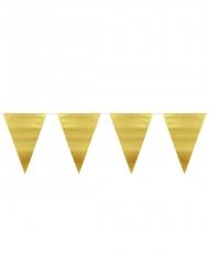 Wimpel-Girlande gold 6 m