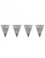 Wimpel-Girlande für Festlichkeiten Raumdekoration metallic-silber 6m