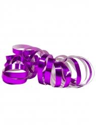 Holographische Luftschlangen Party-Zubehör 2 Stück lila jeweils 4 m