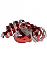 2 Luftschlangen Metallic-Rot 4m