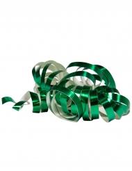 Luftschlangen 2 Stück 4m metallic grün