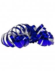 Luftschlangen 2 Stück 4m metallic blau