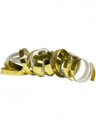 2 Luftschlangen Metallic-Gold 4 m